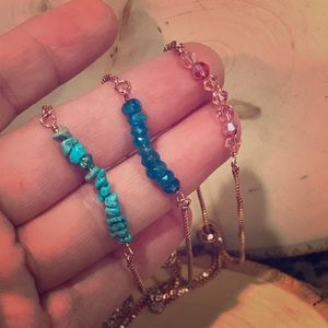 Turquoise, Apatite and Swarovski bracelet